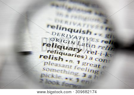 The Word Or Phrase Reliquary In A Dictionary