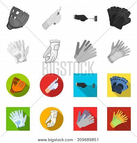 Vector Illustration Of Knitted And Keeper Icon. Set Of Knitted And Hand Stock Symbol For Web.