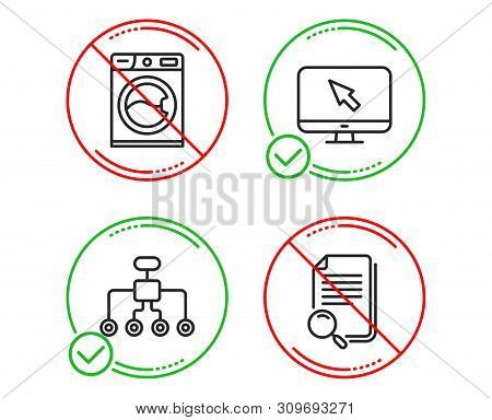 Do Or Stop. Washing Machine, Internet And Restructuring Icons Simple Set. Search File Sign. Laundry