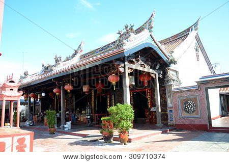 Melaka, Malaysia - 25 Jun, 2019: The Cheng Hoon Teng Temple Is A Chinese Temple In Malacca City, Mal