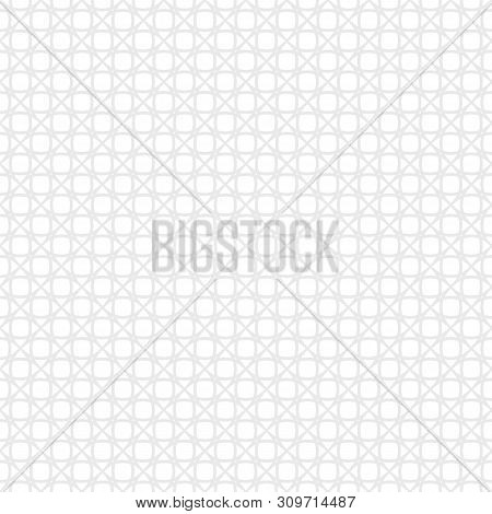 Subtle Seamless Pattern. Vector Texture With Delicate Grid, Net, Mesh, Lace, Lattice, Weave. Simple