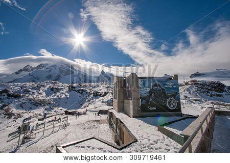 Matterhorn Glacier Paradise, Switzerland - October 27, 2015: Winter View Of Matterhorn Glacier Parad