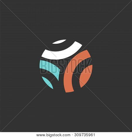 Abstract Swoosh In Circle Logo Template Illustration Design. Vector Eps 10.