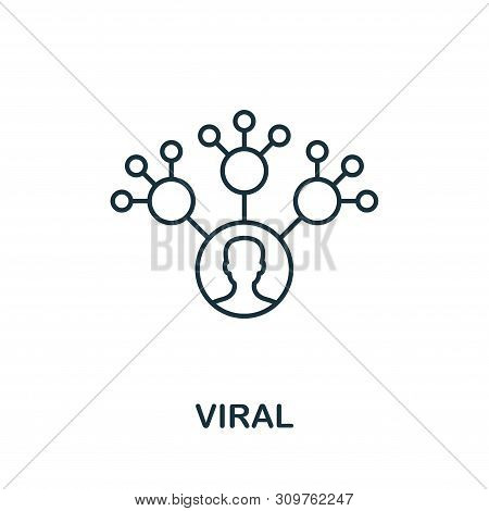 Viral Outline Icon. Thin Line Concept Element From Content Icons Collection. Creative Viral Icon For