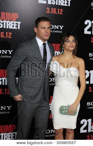 LOS ANGELES - MAR 13:  Channing Tatum; Jenna Dewan arrives at the