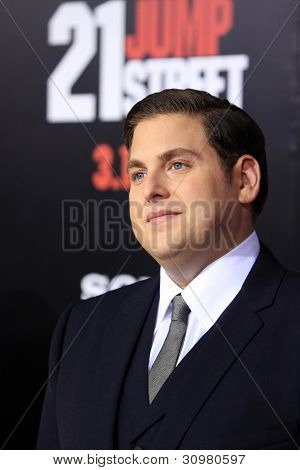 LOS ANGELES - MAR 13:  Jonah Hill arrives at the