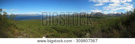 View Over The Abisko Valley In Lapland, Sweden
