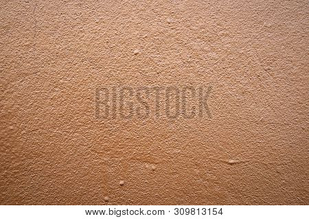 Brown Cement Wall Abstract Texture For Background