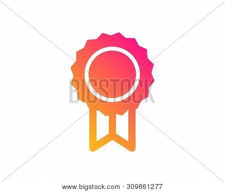 Award Medal Icon. Winner Achievement Symbol. Glory Or Honor Sign. Classic Flat Style. Gradient Rewar