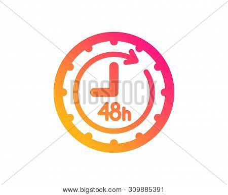 48 Hours Icon. Delivery Service Sign. Classic Flat Style. Gradient 48 Hours Icon. Vector