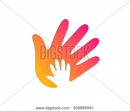Hand Icon. Social Responsibility Sign. Honesty, Collaboration Symbol. Classic Flat Style. Gradient S