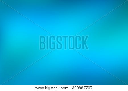 Blue And Green Water Abstract Background, Cool Water Effect Gradient Background Of Bright Vivid Turq