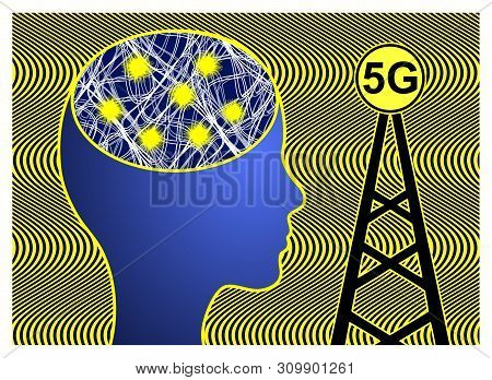 5g Cell Towers Dangerous For Health. Ultra High Radio Frequencies Can Trigger A Number Of Diseases L