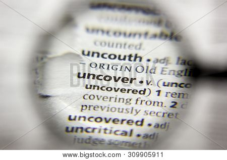 The Word Or Phrase Uncover In A Dictionary