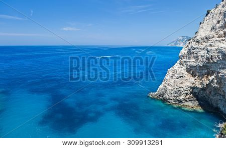 West coast of Lefkada Island, Greece