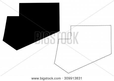 Bay Region (federal Republic Of Somalia, Horn Of Africa) Map Vector Illustration, Scribble Sketch Ba