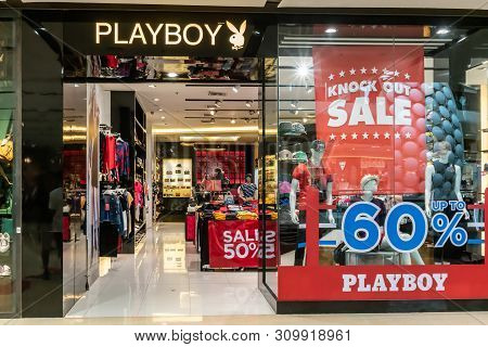 Playboy Shop At Central Ladprao Bangkok, Thailand, June 23, 2019 : Casual Fashionable Clothing And A