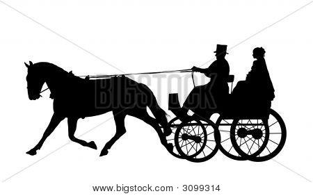 Pferd und Kutsche Hochzeit