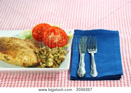 Baked Chicken With Stuffing