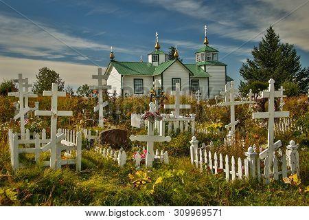 Holy Transfiguration Of Our Lord Chapel, Near Kenai In Alaska