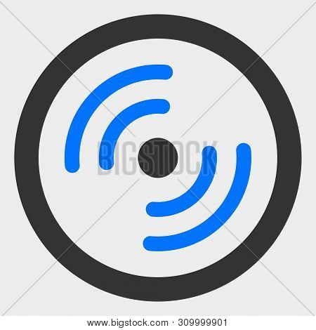 Rotor Rotation Vector Icon. A Flat Illustration Design Of Rotor Rotation Icon On A White Background.