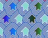 Pop Art Arrows Up Blue Green Pale Blue poster