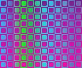 Op Art Checkerboard Of Rounded Frames Magenta Over Gradient poster