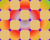 Op Art Rounded Squares Orange With Gradient Background poster