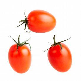 Tomato. Fresh Vegetable Isolated Over White Background.