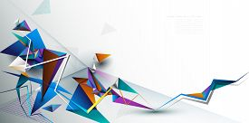 Vector 3d Geometric, Polygon, Line,triangle Pattern Shape For Wallpaper. Illustration Low Poly, Poly