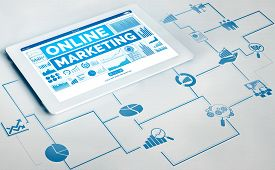 Marketing Of Digital Technology Business Concept.
