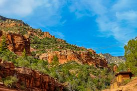 Red Rock Mountains In Slide Rock State Park Outside Sedona Arizona