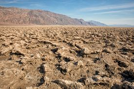 Devils Golf Course In Death Valley National Park Usa