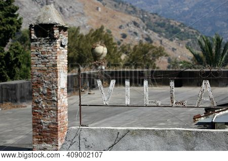 A House In Old Town Of  Taormina In The Province Of Sicily In Italy.   Italy, Sicily, October, 2014