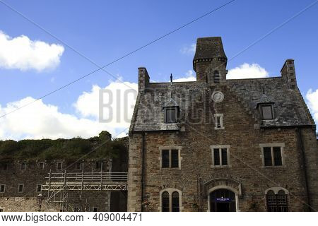 Bodmin (england), Uk - August 20, 2015: Bodmin Jail Naval Prison Outside View, Cornwall, England, Un