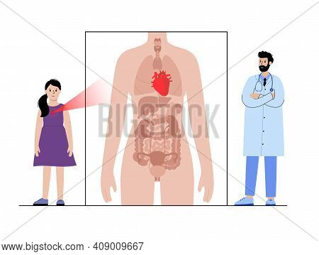 Arrhythmia, Pain, Inflammation In Heart. Appointment With Doctor. Heart Attack, Disease In The Cardi