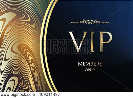 Vip Card Vectors. Gold Card. Blue Lilac Gradient Geometric Ornament Pattern In Oriental Style. Backg