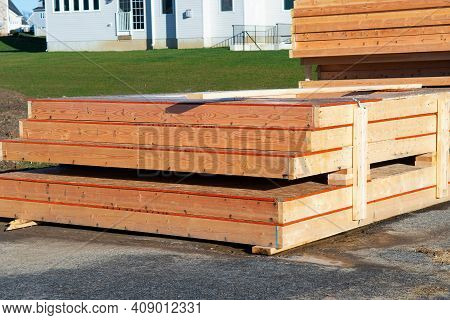 Wooden Building Material Stack Industry New Cut