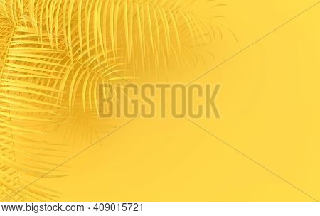 Tropical Palm Leaves Background. Summer Tropical Leaf. Exotic Hawaiian Jungle, Summertime Party Desi