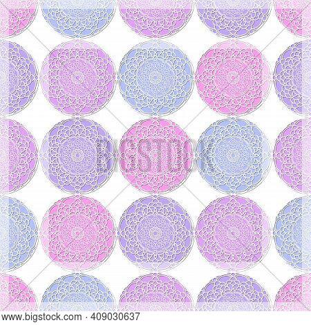 Print For Kerchief, Bandana, Scarf, Handkerchief, Shawl, Neck Scarf. Squared Pattern With Arabic Ara