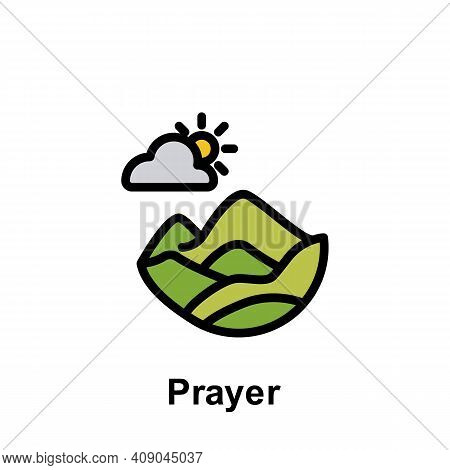 Ramadan Prayer Outline Icon. Element Of Ramadan Day Illustration Icon. Signs And Symbols Can Be Used