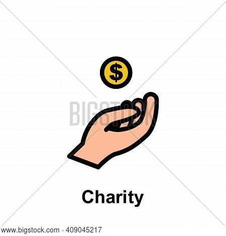 Ramadan Charity Outline Icon. Element Of Ramadan Day Illustration Icon. Signs And Symbols Can Be Use