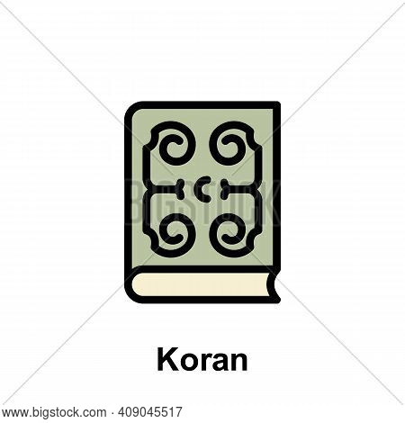 Ramadan Koran Outline Icon. Element Of Ramadan Day Illustration Icon. Signs And Symbols Can Be Used