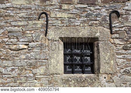 Saltash (england), Uk - August 21, 2015: An Old Window Cotehele Park, Near Saltash,  Cornwall, Engla