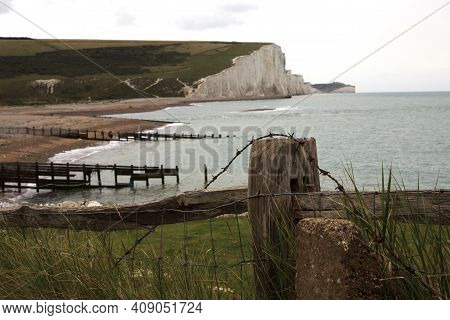 Sussex (england), Uk - August 23, 2015: Sussex Coast And Seven Sisters, England, United Kingdom.