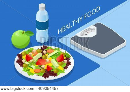 Isometric Diet Programs, Diet Plan Concept. Nutrition Diet, Weight-management Diet, Individual Dieta