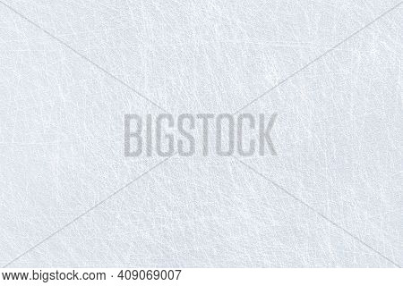 Ice Background Texture And Snow Surface With Marks And Lines From Skating. Ice Hockey Rink, Arena Or