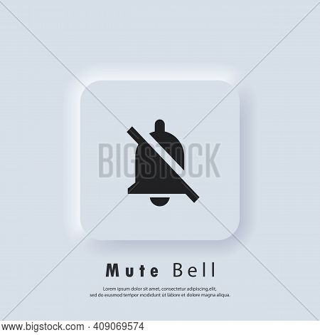 Mute Bell Icon. Alarm Off, Bell Ring Icon. Notification Bell Icon For Incoming Inbox Message. Bell R