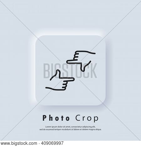 Photo Crop Icon. Hands Frame Cropping Gesture Icons. Hands Holding Photo Camera Shutter. Director S