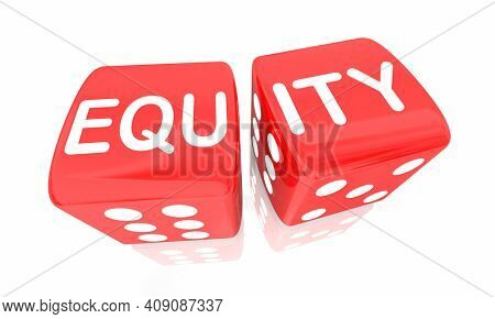 Equity Dice Roll Diversity Inclusion Play Game Fair Rules Win Access 3d Illustration